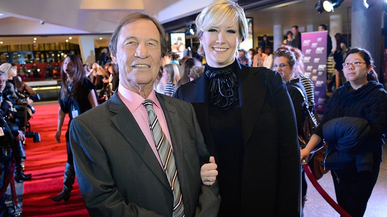 Jean-Pierre Ferland et sa compagne.