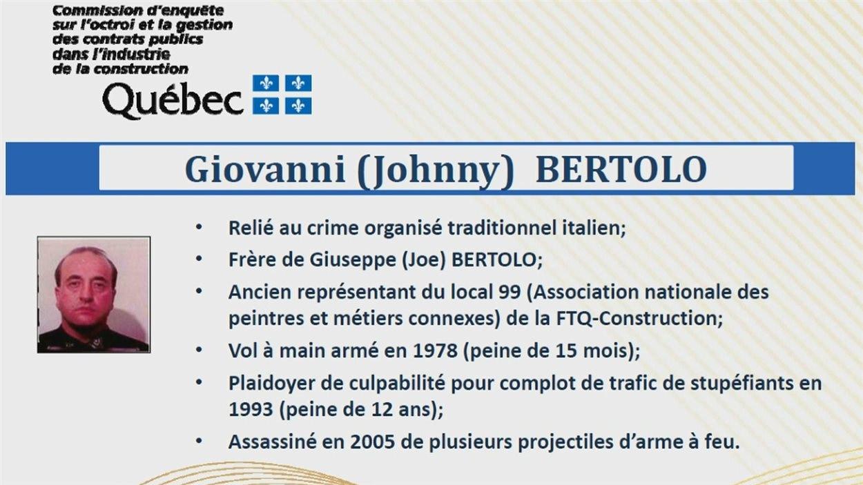 Fiche de Giovanni Bertolo