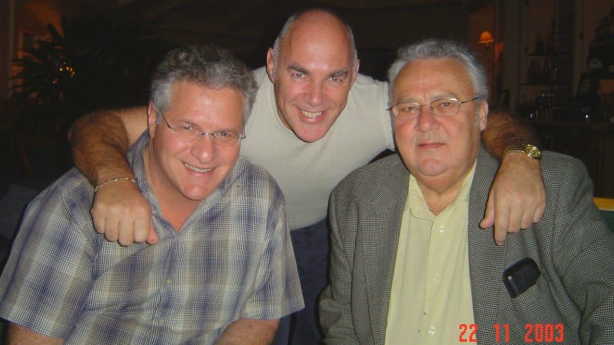 Photo de groupe: Tony Accurso, Jocelyn Dupuis et Jean Lavallée