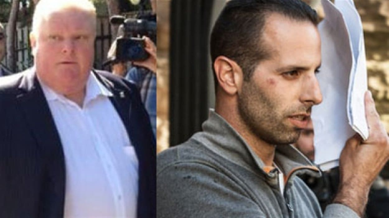 Montage photo du maire de Toronto, Rob Ford (à gauche), et de son ami et chauffeur occasionnel Alessandro Lisi