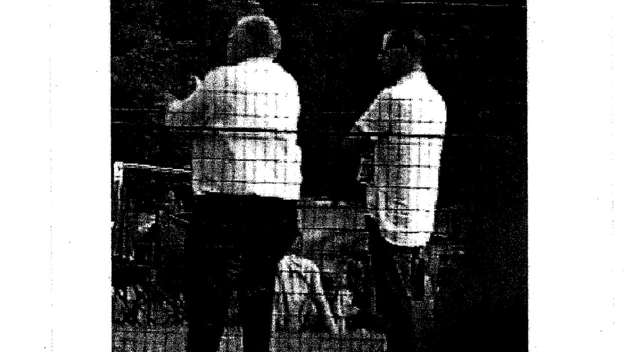 Photo de surveillance d'une rencontre entre le maire Rob Ford et son ami et présumé trafiquant Alessandro Lisi.