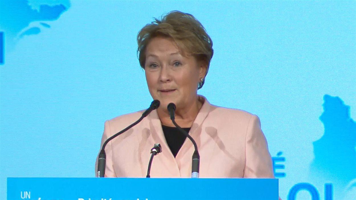 La première ministre Pauline Marois, à Montréal, le 1er novembre