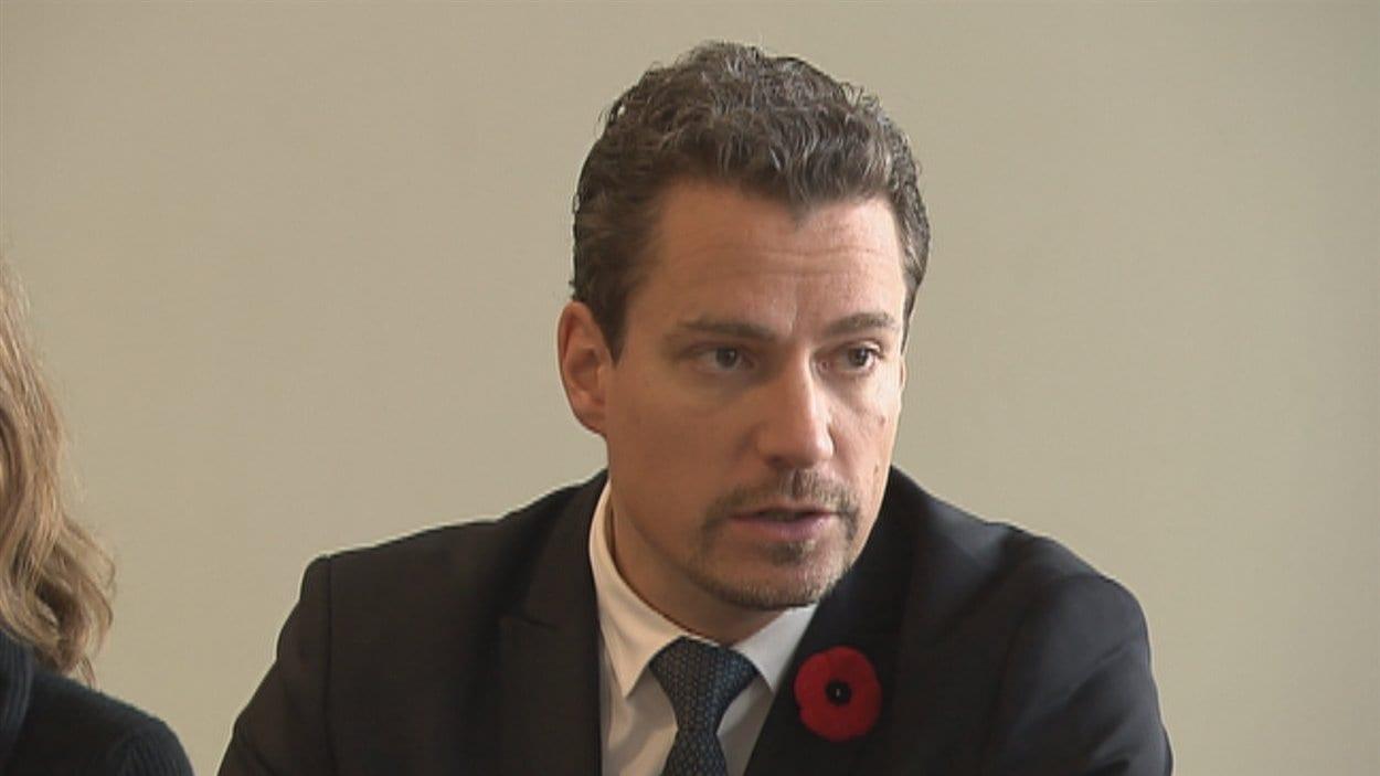Le chef de Démocratie Québec, David Lemelin