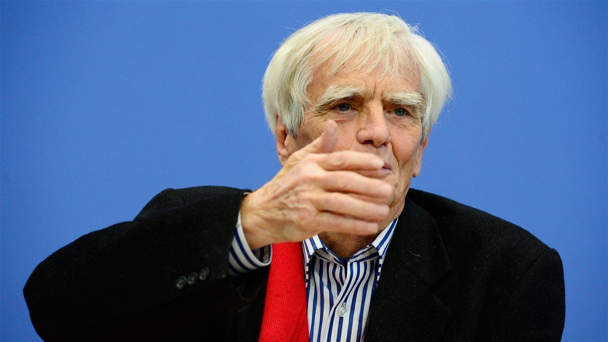 Le député écologiste allemand Hans-Christian Ströbele