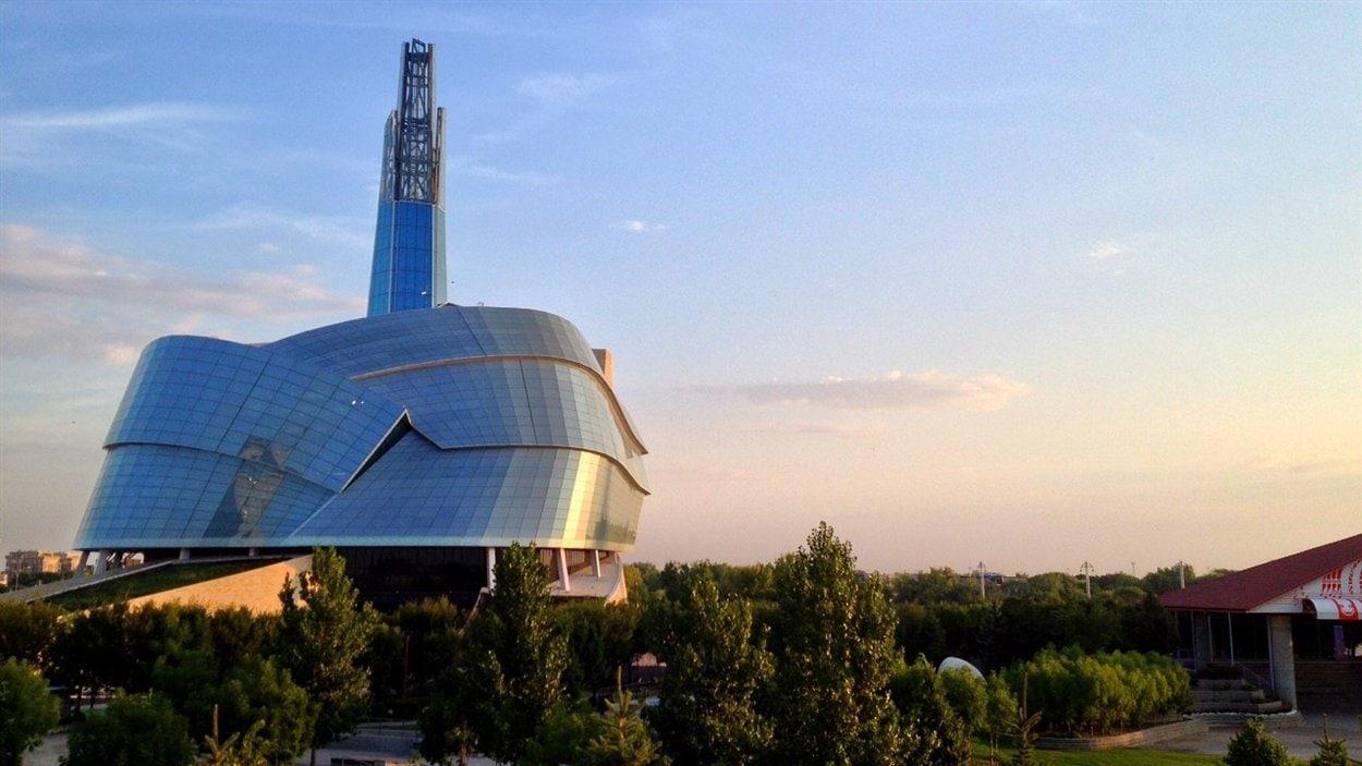 Vue du Musée canadien pour les droits de la personne à Winnipeg le 6 septembre 2013.