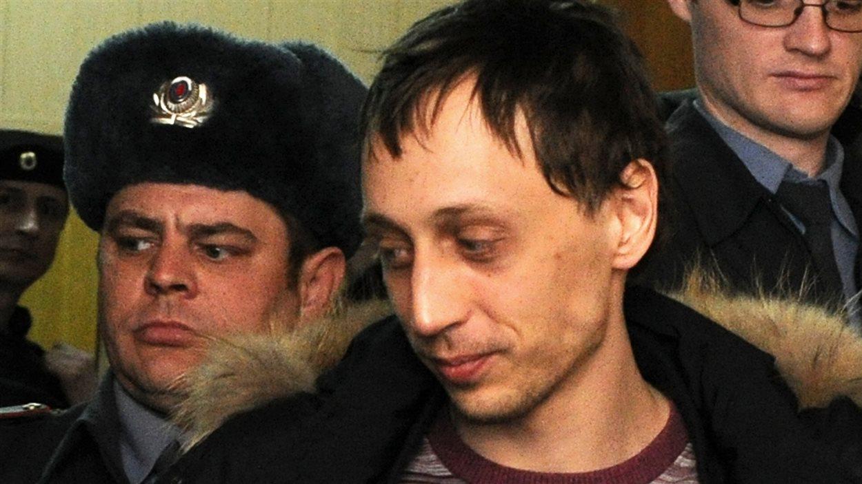 Le danseur du Bolchoï Pavel Dmitrichenko, soupçonné d'avoir commandité l'attaque contre le directeur artistique de la compagnie.