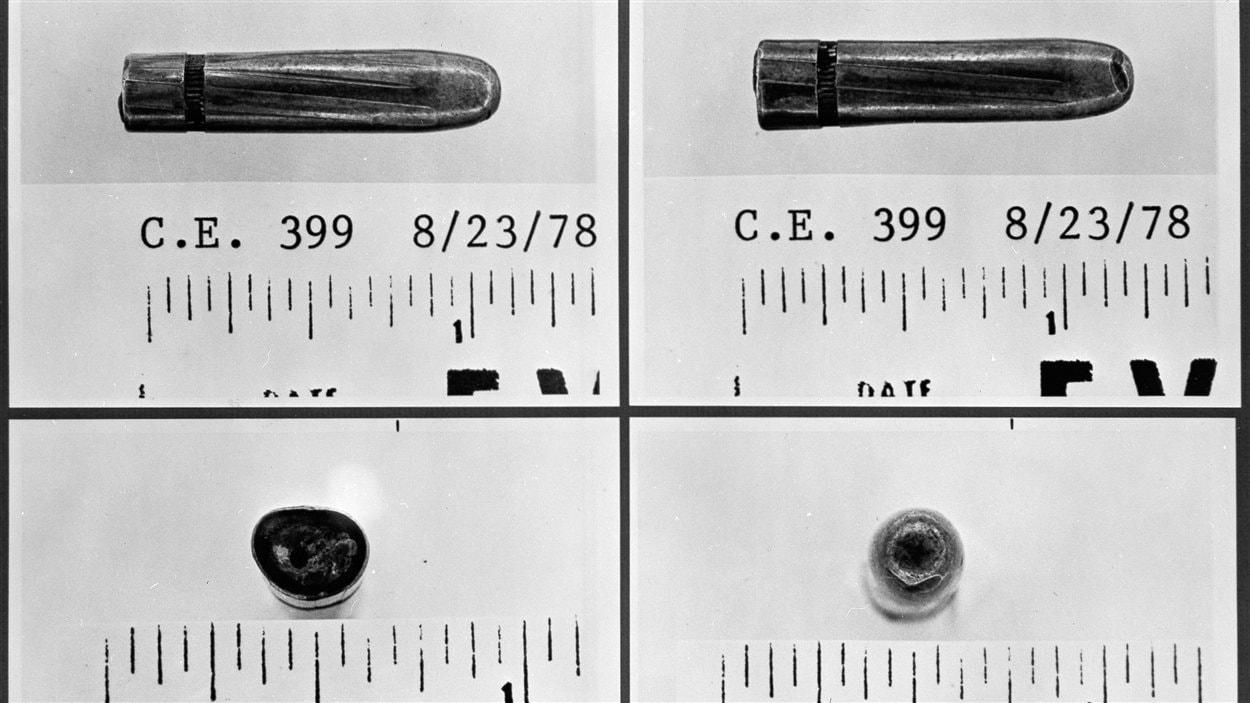 La «balle magique», retrouvée sur une civière à l'hôpital Parkland.