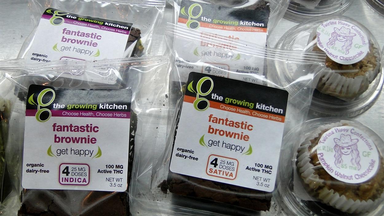 Les produits comestibles à base de marijuana sont de plus en plus nombreux.