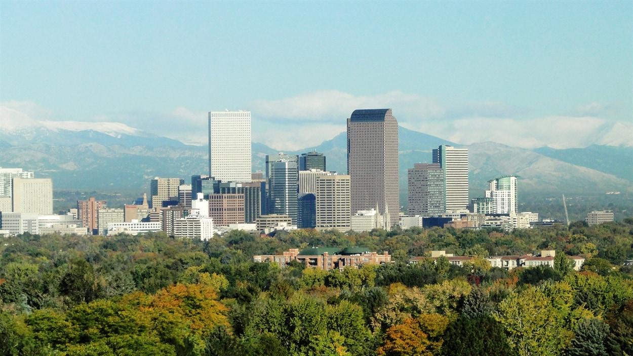 La ville de Denver, métropole et capitale de l'État du Colorado.
