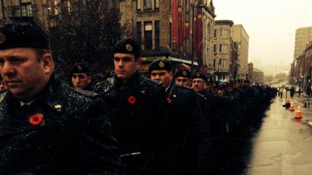 Militaires et réservistes ont participé à une parade du jour du Souvenir à Trois-Rivières.