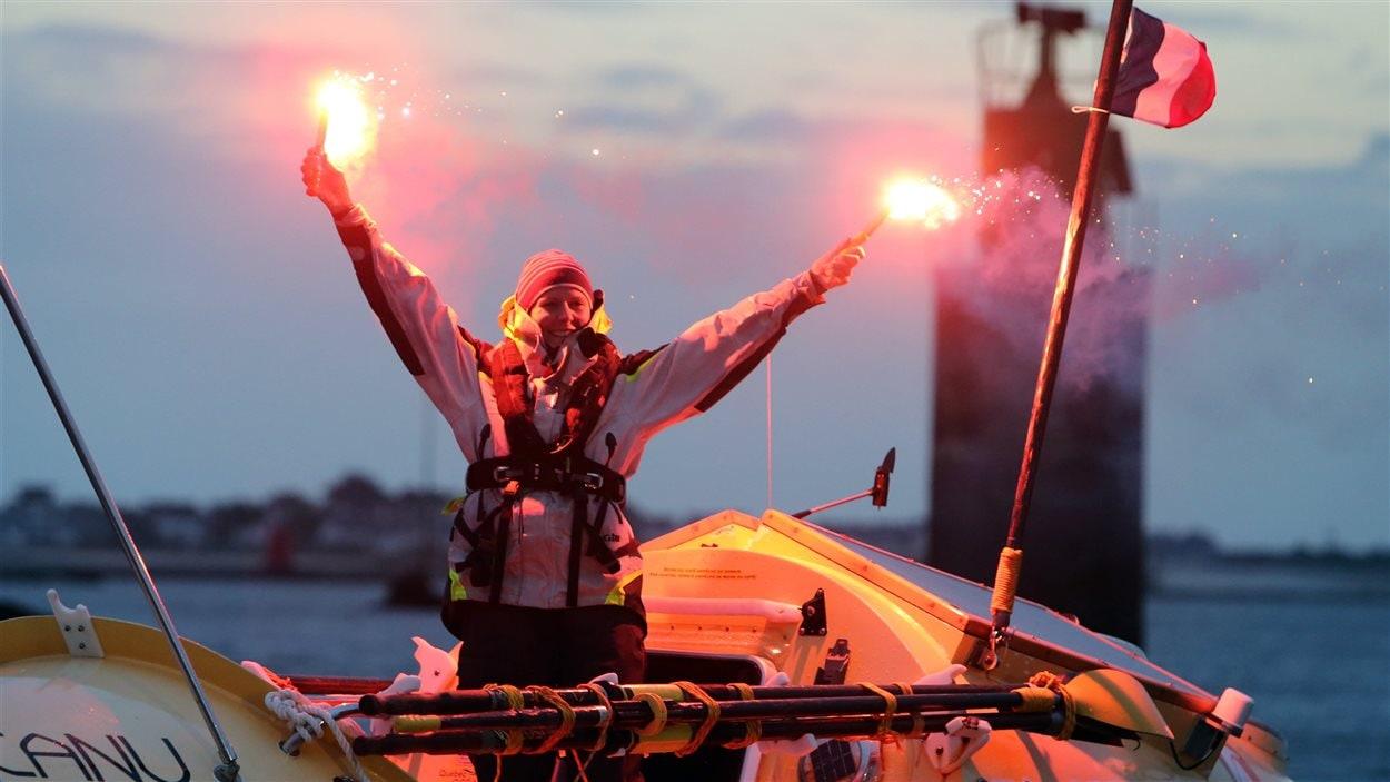 Mylène Paquette célèbre son arrivée, le 12 novembre 2013.