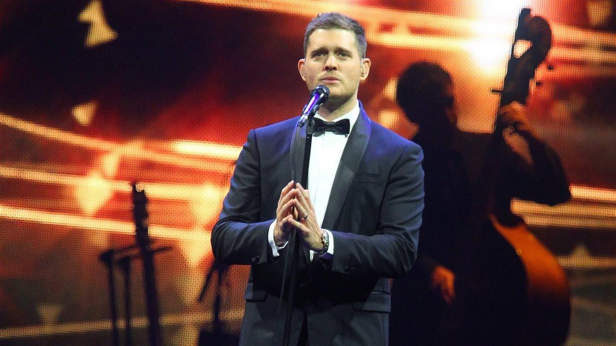 Michael Buble en concert au First Niagara Center à Buffalo, dans l'État de New York en septembre 2013.