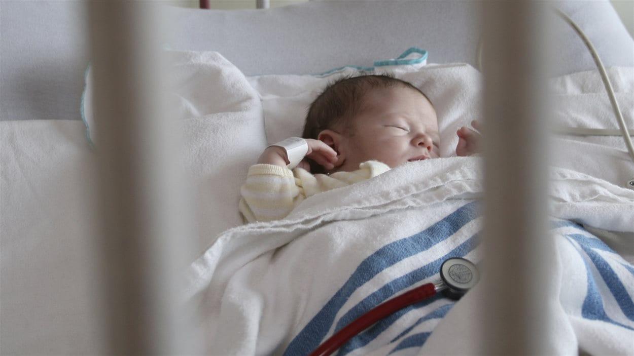 Un bébé à l'hôpital