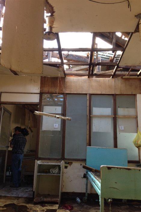 Dommages à l'hôpital d'Ormoc