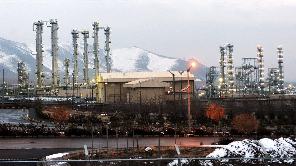 Le site du réacteur nucléaire à eau lourde d'Arak en Iran.