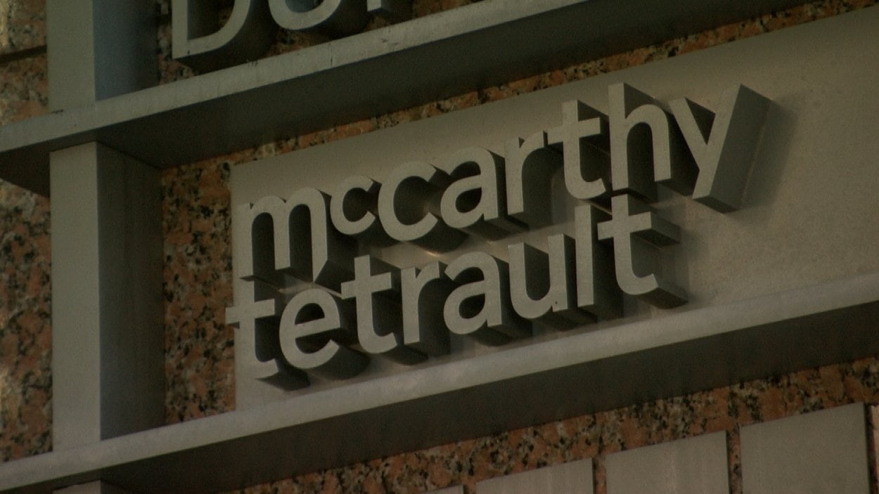 Affiche de la firme d'avocats McCarthy Tetrault.