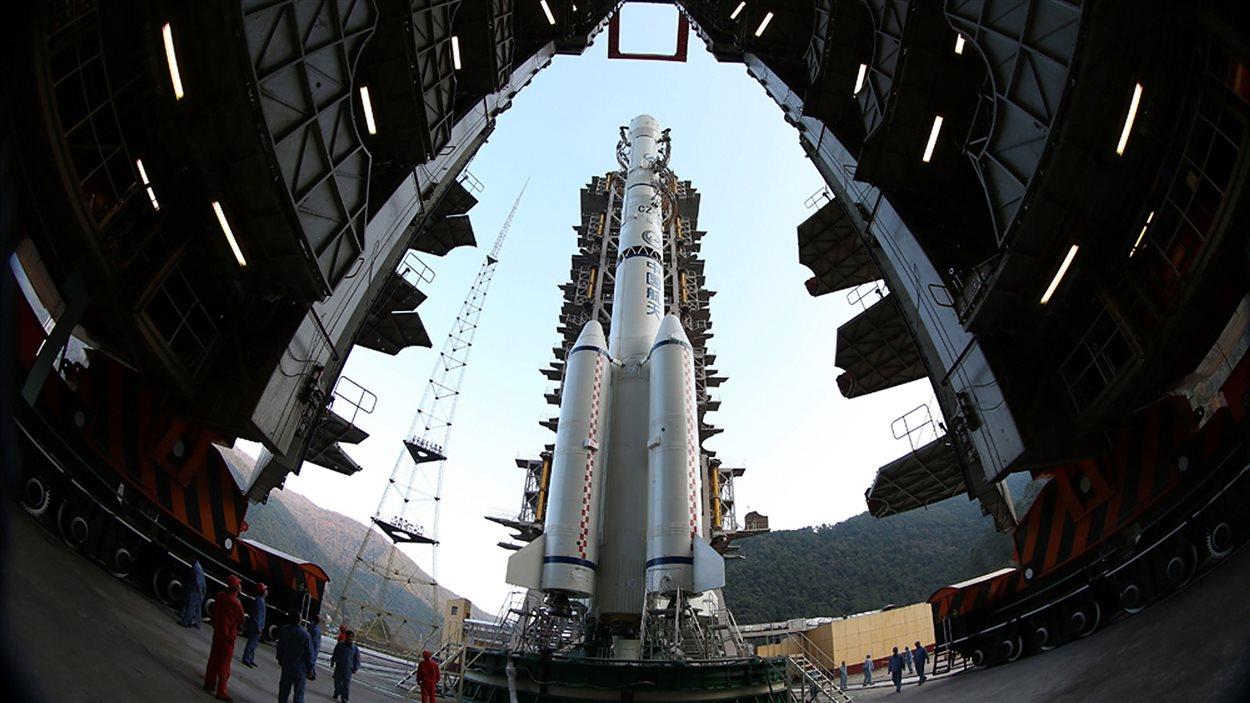 La sonde « Chang'e-3 » se prépare au décollage.