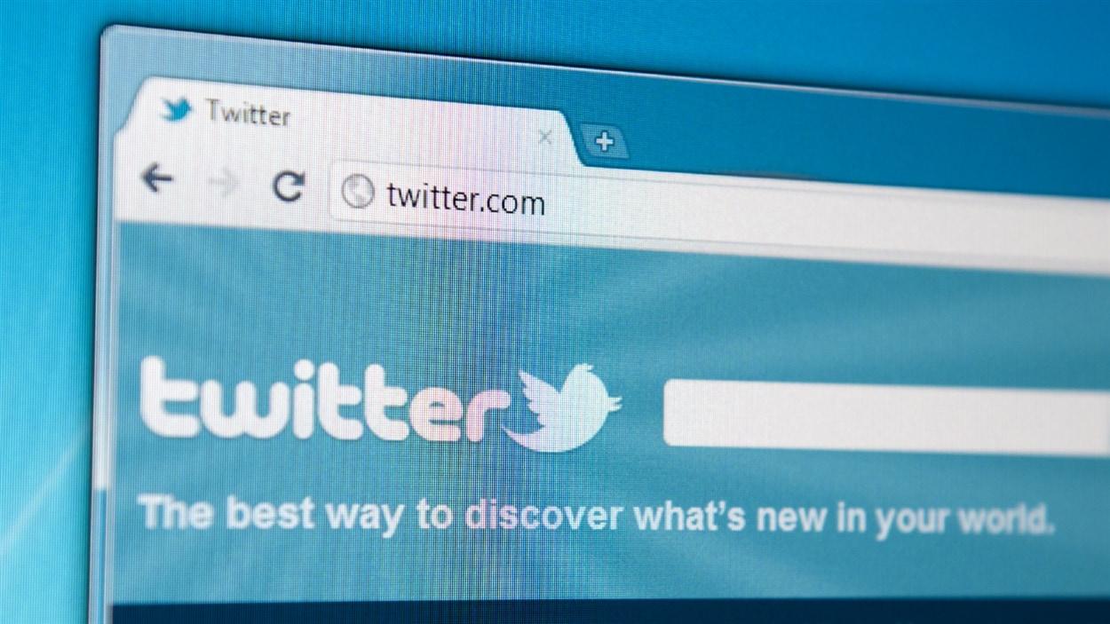 L'écran d'accueil de Twitter.