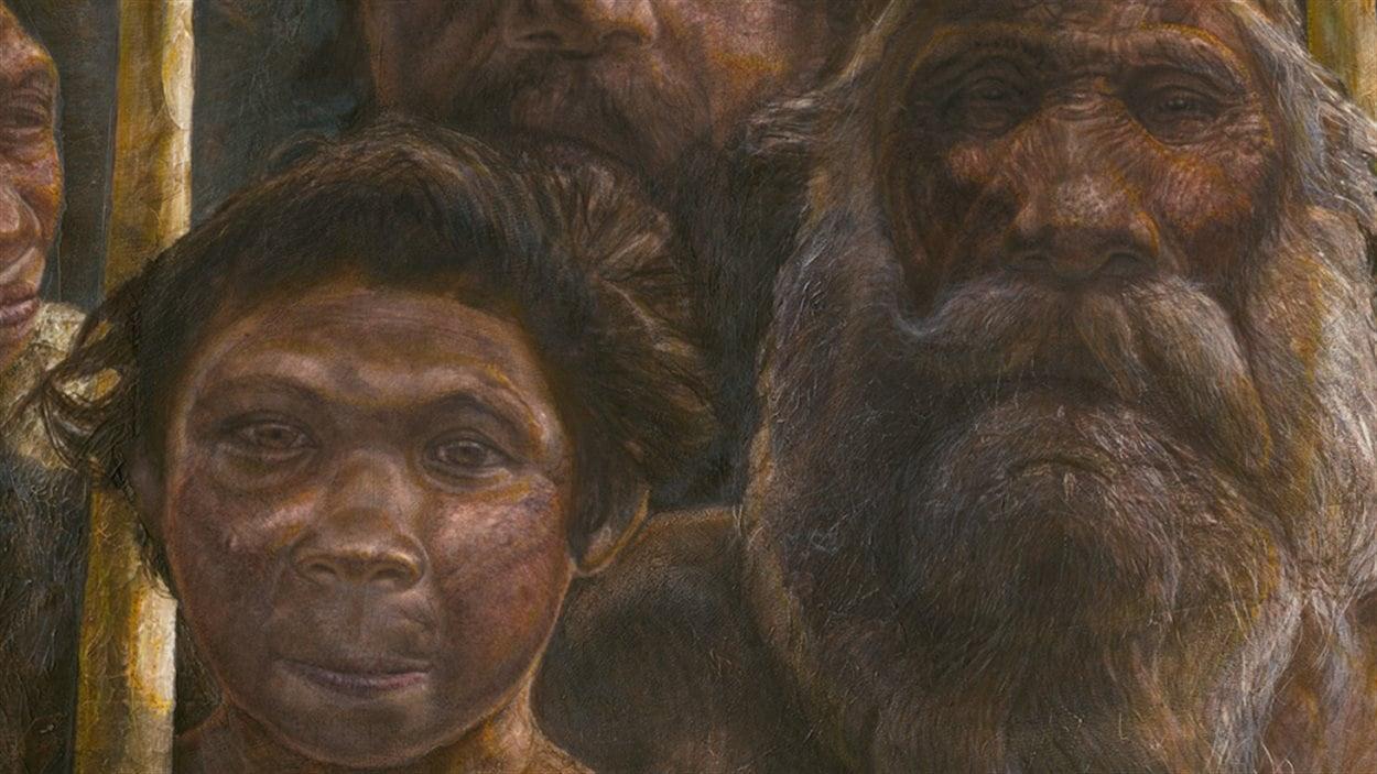 Reconstitution artistique de l'apparence des «hommes Sima».