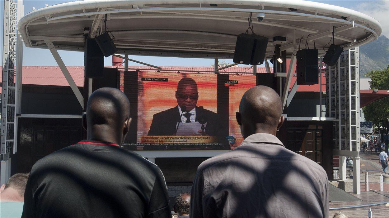 La cérémonie était retransmise sur 150 écrans géants dans l'ensemble du pays.