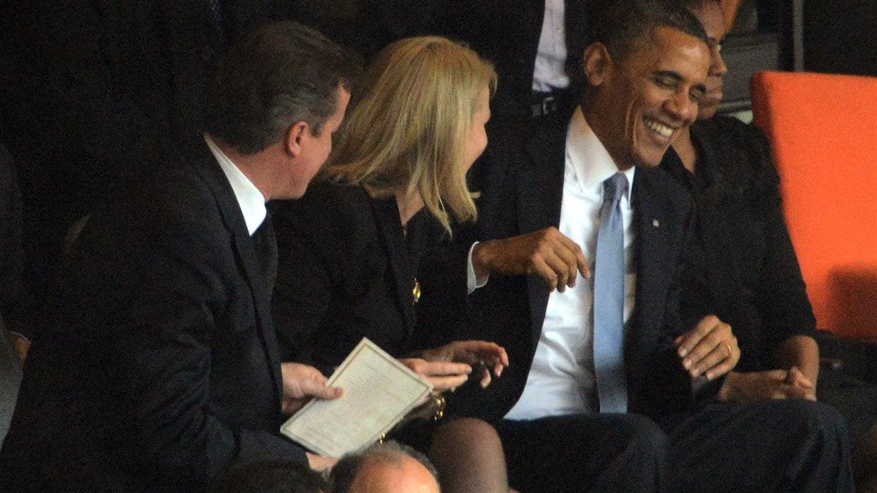 Obama, la première ministre danoise Thorning-Schmidt et le premier ministre britannique ont pris une autophoto