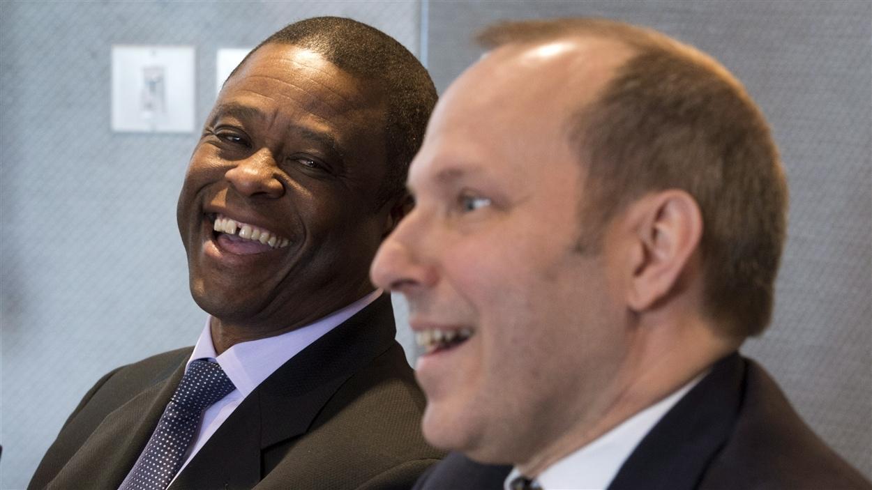 Warren Cromartie et Michel Leblanc, président et chef de la direction de la Chambre de commerce du Montréal métropolitain