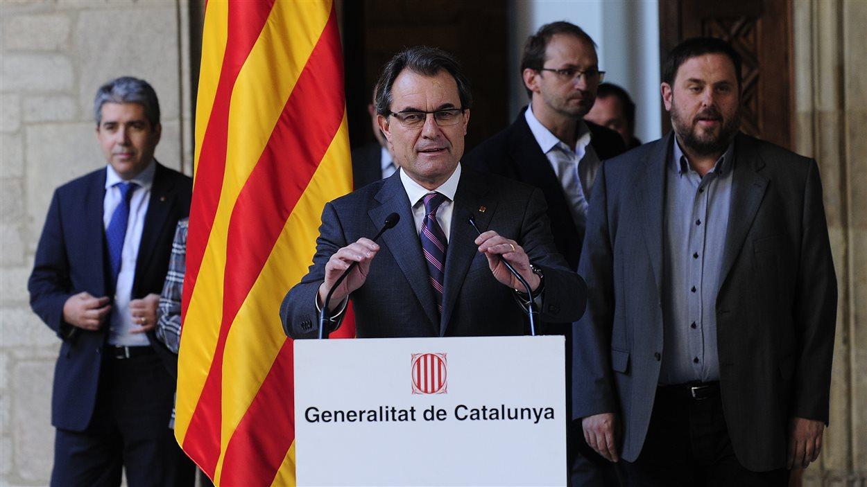 Le président de la Catalogne, Artur Mass