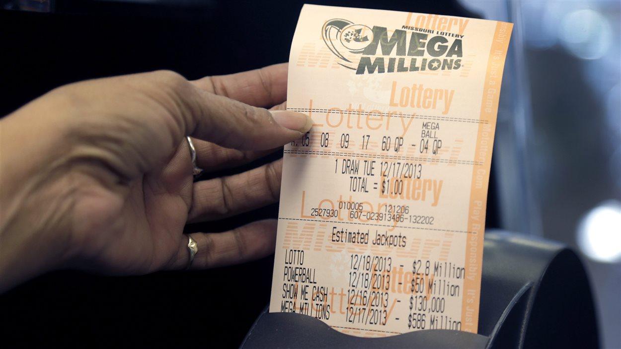 Un ticket de la loto américaine Mega Millions