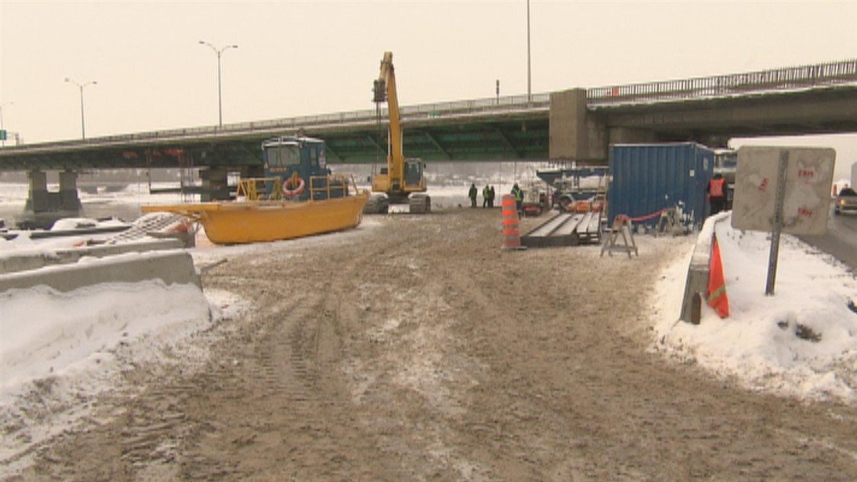 Le chantier de réparation du pont Dubuc