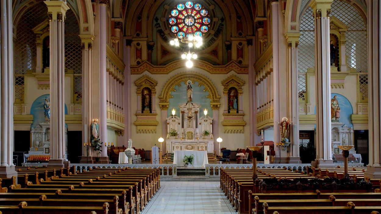 L'église Sainte-Brigide à Montréal avant sa transformation