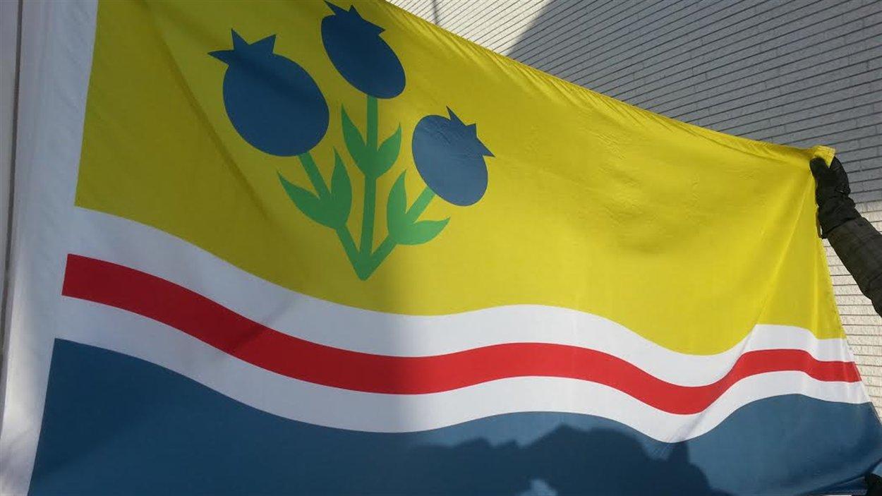 Le drapeau du Lac-Saint-Jean