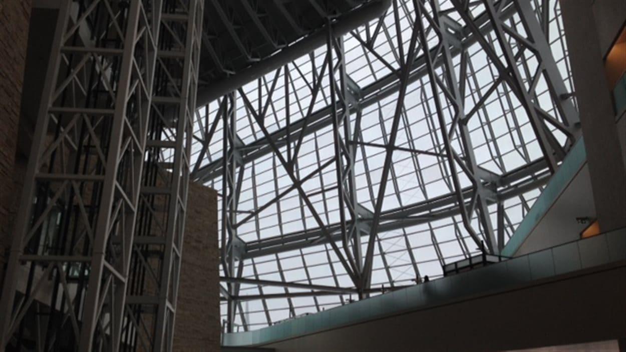 Le jardin des contemplations du Musée canadien pour les droits de la personne, à Winnipeg, le 10 janvier 2014.