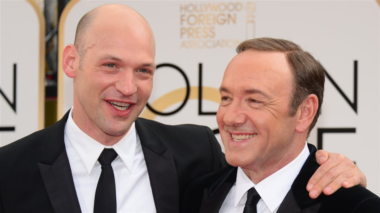 Les acteurs de House of Cards, Corey Stoll et Kevin Spacey