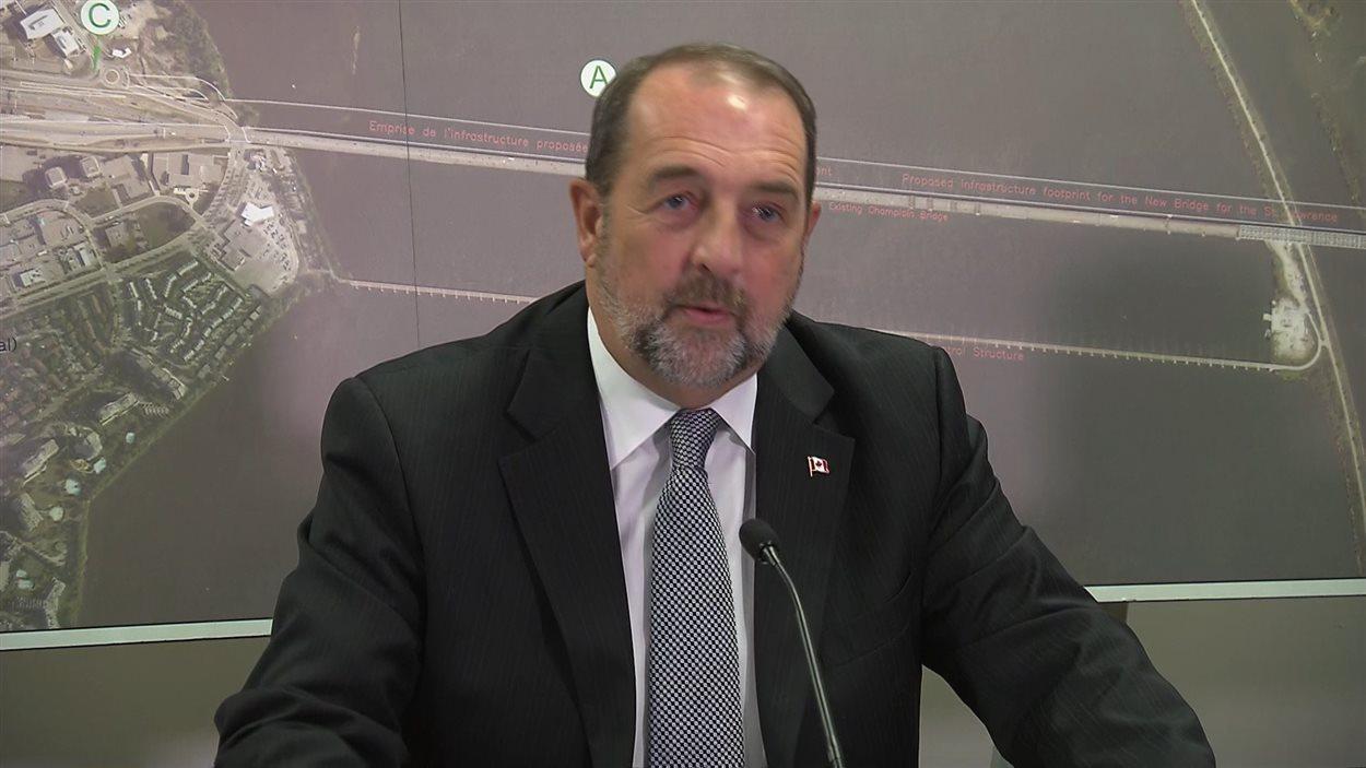 Denis Lebel, ministre fédéral des Transports du Canada