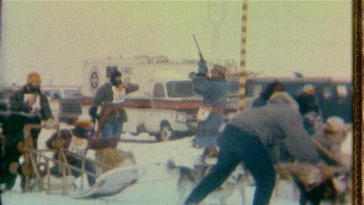 À ses débuts en 1970, le Festival du Voyageur organisait des courses de chiens attelés.