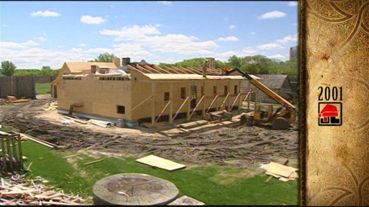 La construction de la Maison du Bourgeois au Fort Gibraltar dans le parc Whittier a commencé en février 2001.