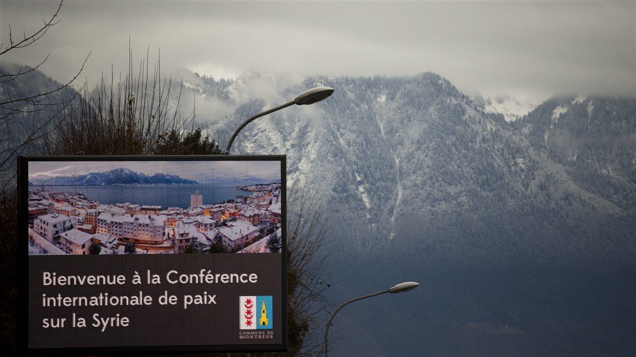 La Conférence internationale de paix sur la Syrie se tient cette semaine à Montreux et Genève, en Suisse.