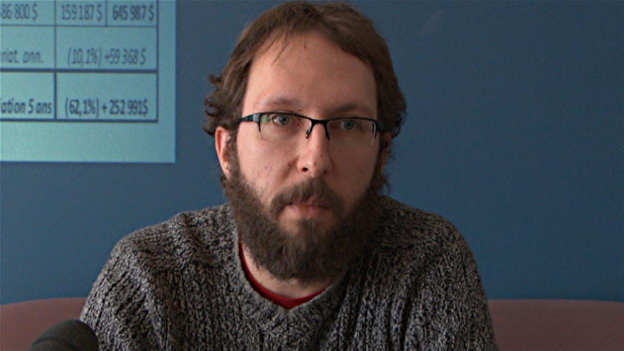 David Clément, coordonnateur de l'Association de défense des droits sociaux