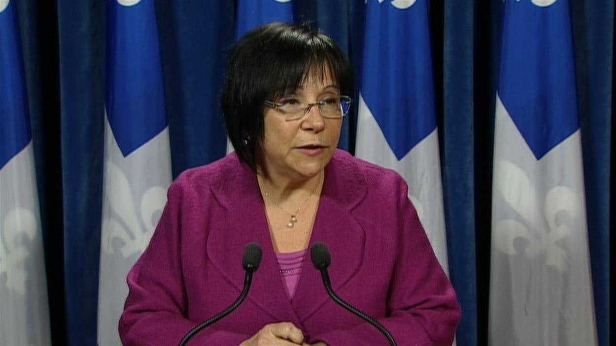 Élaine Zakaïb, ministre déléguée à la Politique industrielle et à la Banque de développement du Québec.