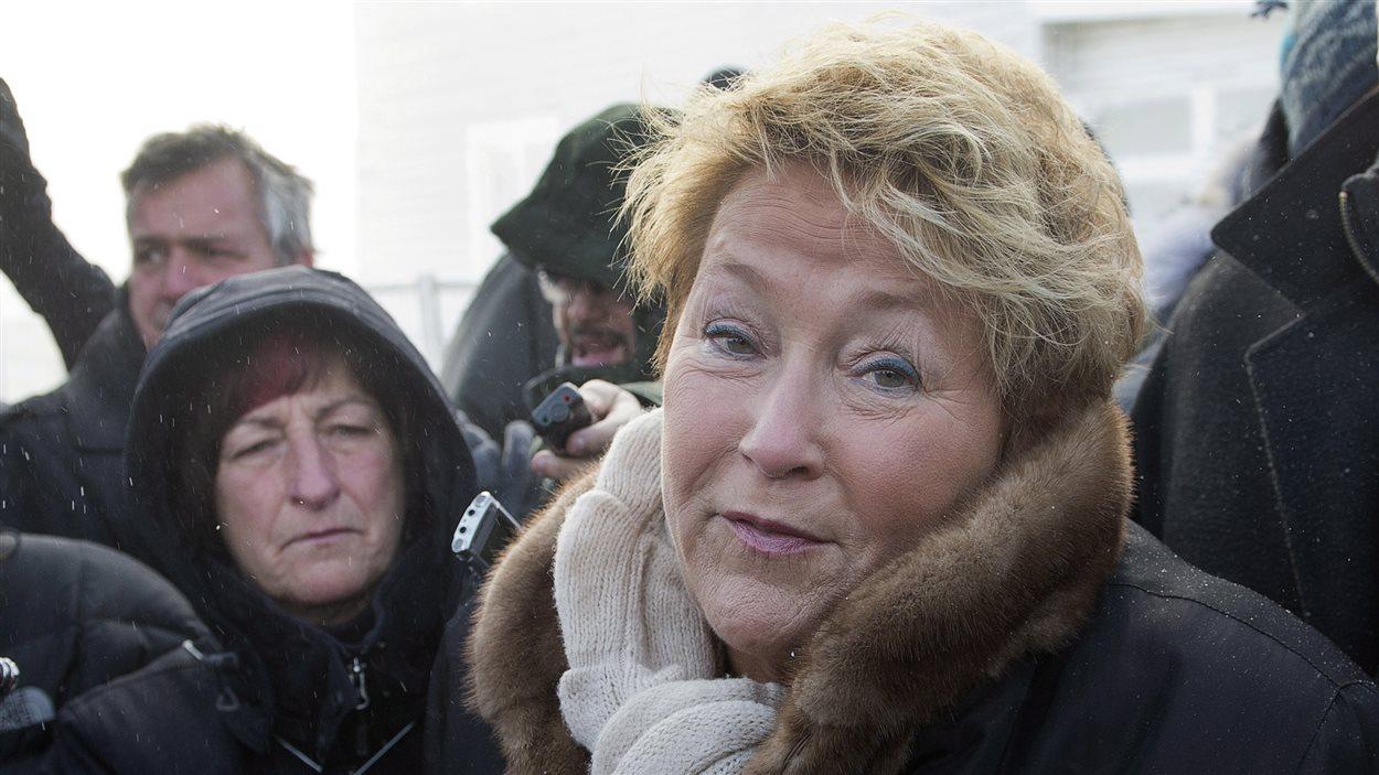 Pauline Marois à L'Isle-Verte.