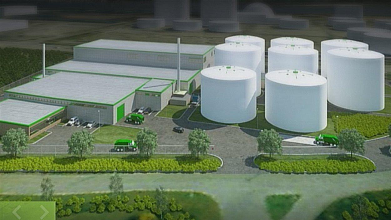 Le projet de centre de biométhanisation
