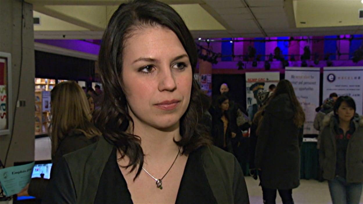 La présidente de la Fédération des étudiants de l'Université d'Ottawa, Anne-Marie Roy.