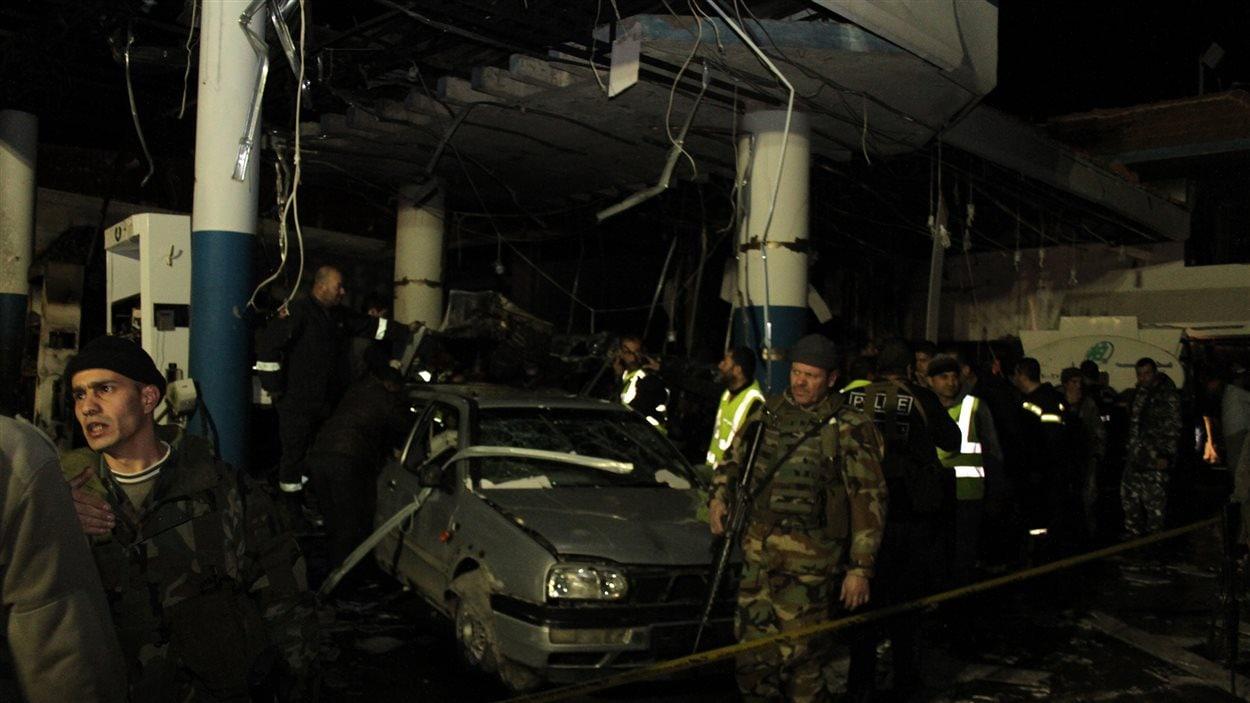 Les services de sécurité sur le site de l'attentat