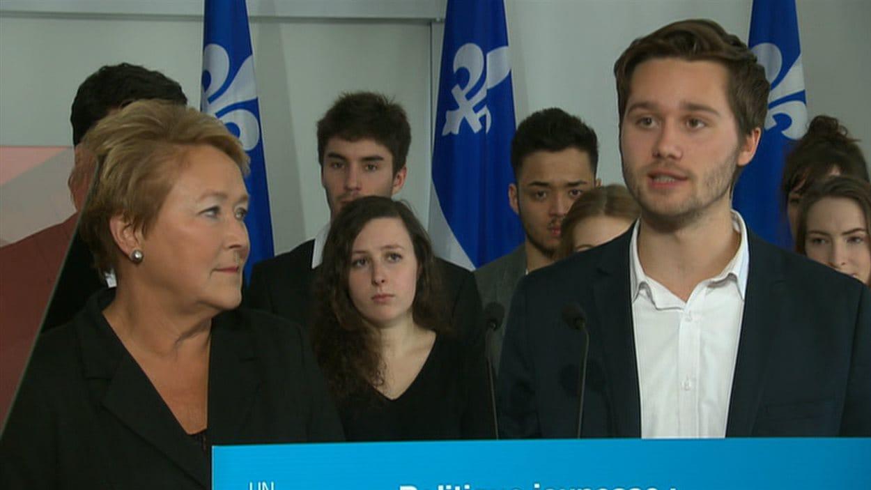 La première ministre, Pauline Marois, et le député de Laval-des-Rapides, Léo Bureau-Blouin