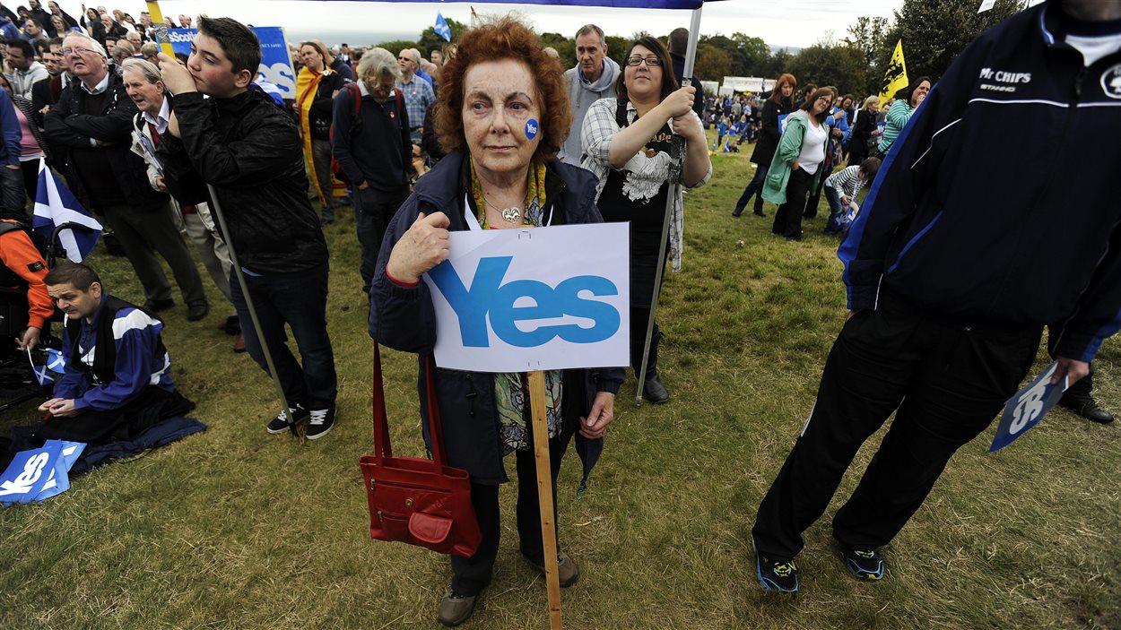 Une partisane de l'indépendance de l'Écosse