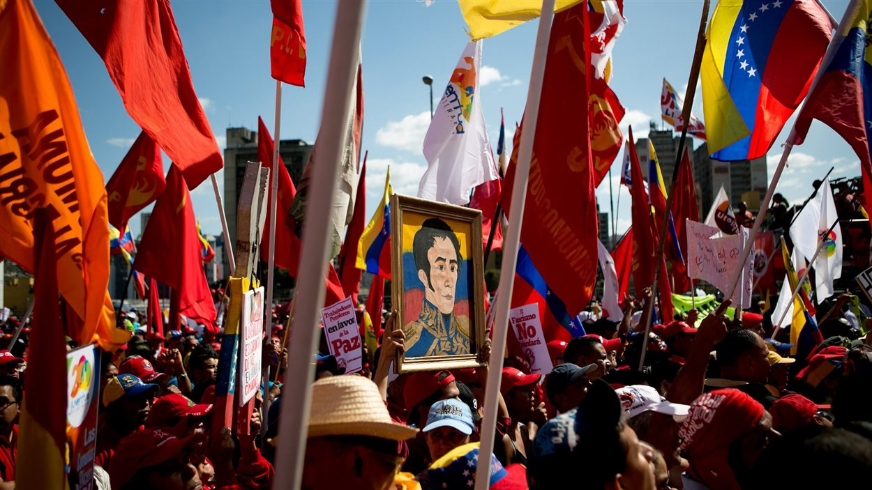 Les partisans du président Maduro étaient plus nombreux à Caracas.