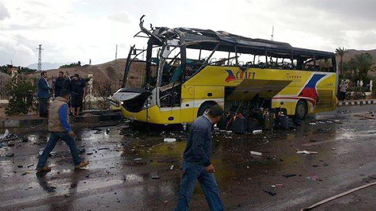 Un autobus de touristes a été la cible d'un attentat en Égypte