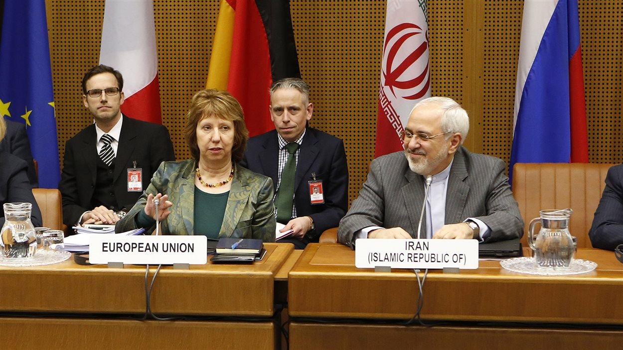 Catherine Ashton, vice-présidente de la Commission européenne, et Hassan Rohani, président iranien, sont à Vienne dans le cadre des pouparlers sur le nucléaire de la république islamique.
