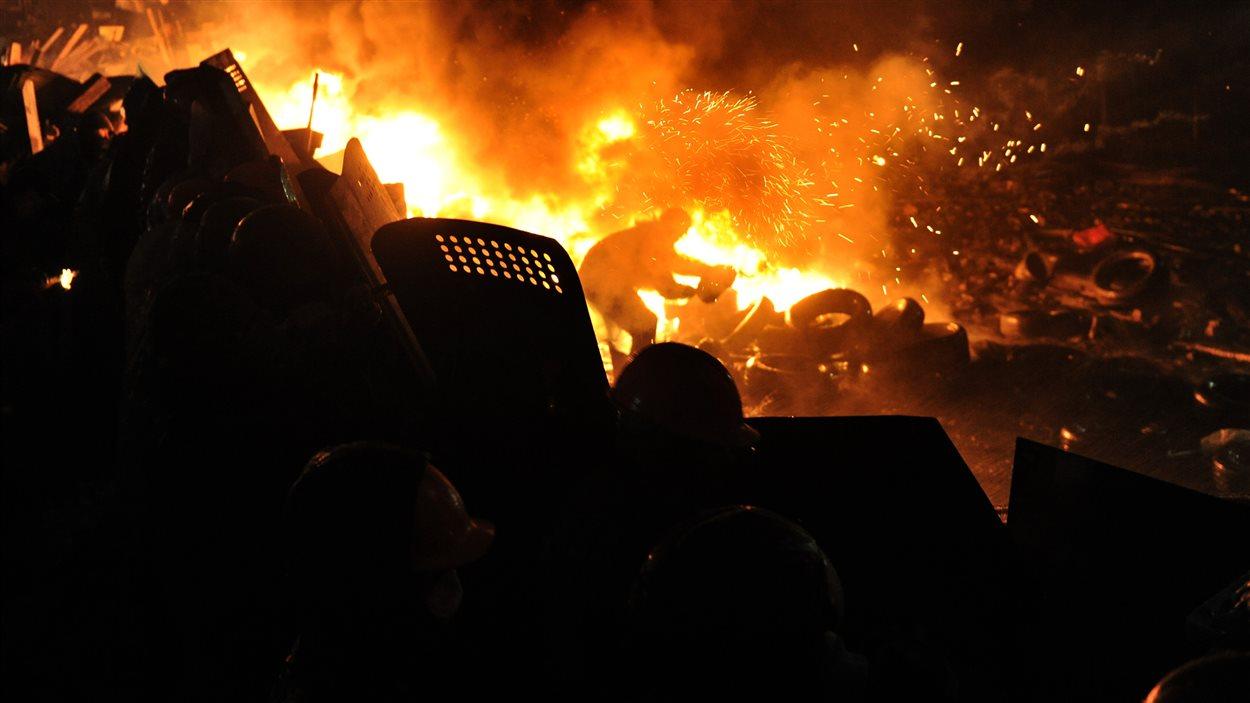 La nuit a été mouvementée dans la capitale ukrainienne.