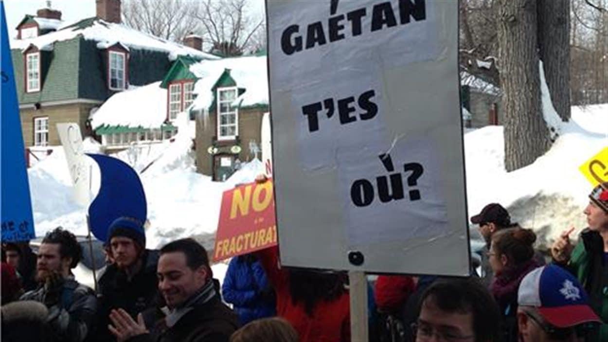 Manifestation à Gaspé